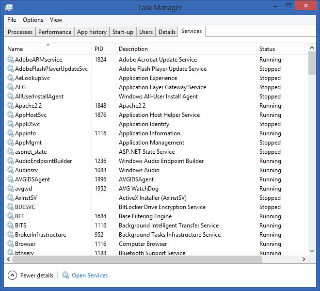 Task Manager - Services