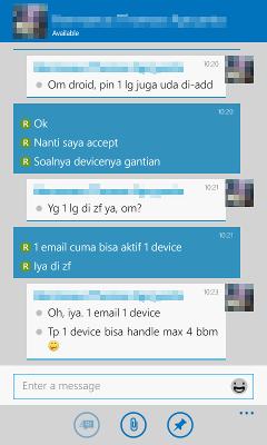 BBM for Windows Phone 8