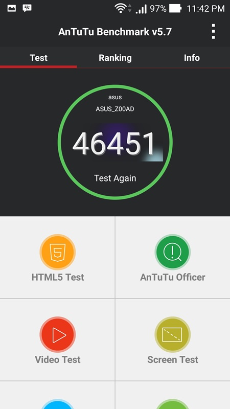 AnTuTu Benchmark Zenfone 2