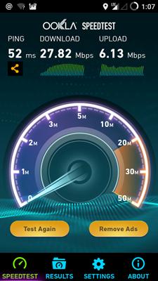 4G LTE Smartfren Speedtest