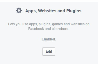 Facebook Apps Settings
