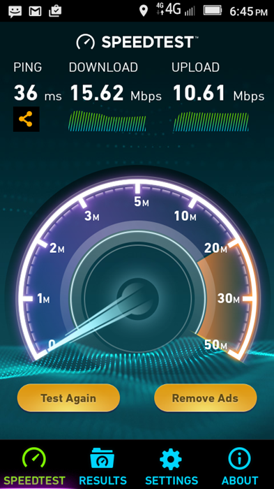Lenovo A2010 Speedtest