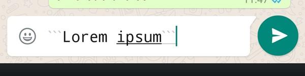 WhatsApp Font Mesin Ketik