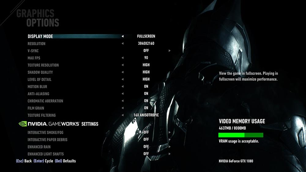 Setting Game Batman